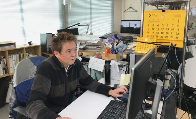 横川社長お仕事風景