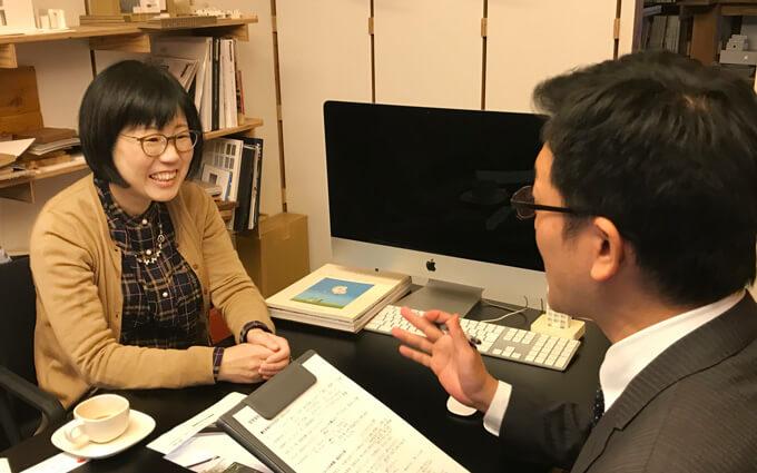 津野さんインタビュー中