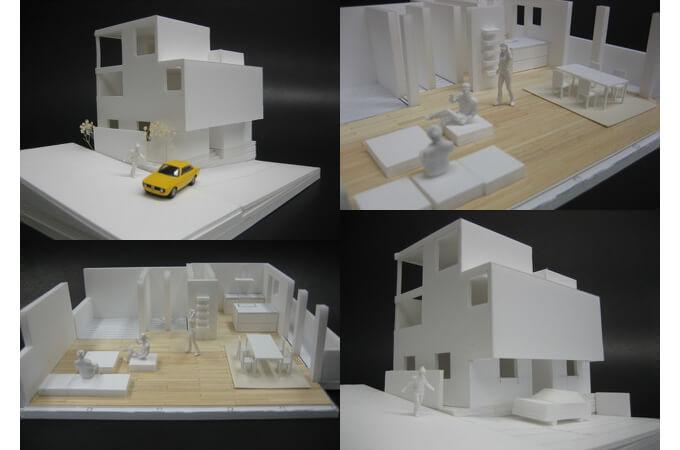 岩成代表の手掛けた家の模型
