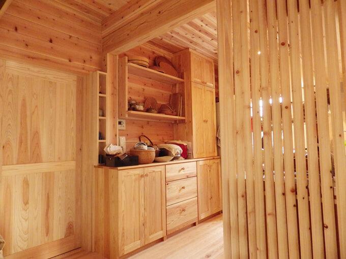 事例写真古民家リフォームキッチン家具バックセット