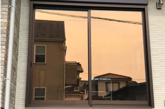 内が窓ガラス
