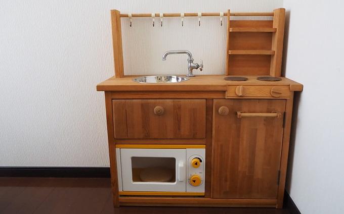 子ども用の手作り調理台