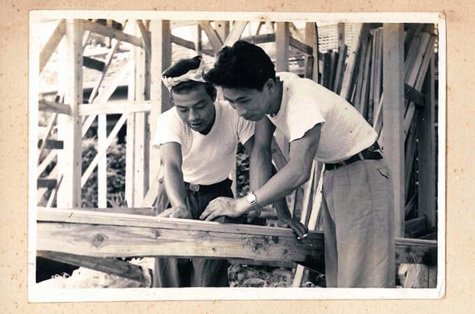 小池工務店様の古い白黒写真1