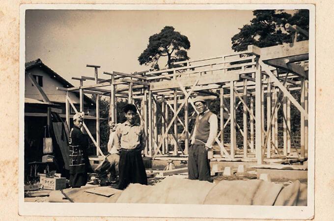 小池工務店様の古い白黒写真2