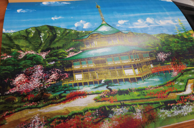 先代が描いたお寺の絵