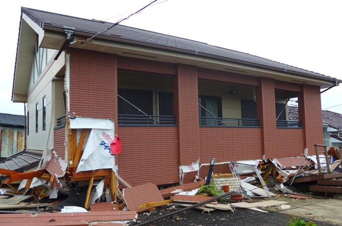 熊本地震の被害の様子