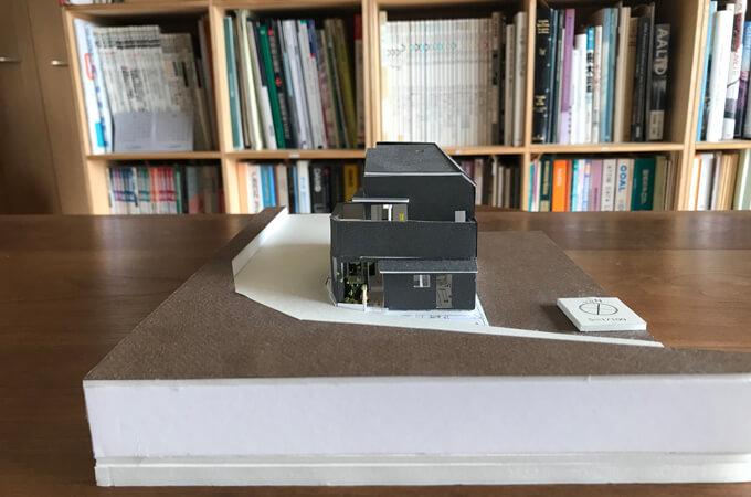 手掛けた家の模型