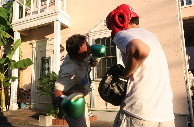 都市工房 社長のボクシング姿