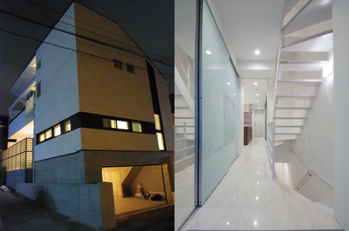 お家の外観と内装