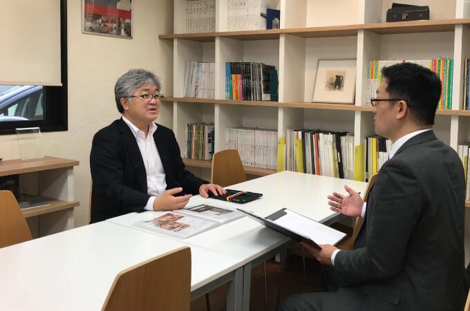 中村さんとインタビュアーさん