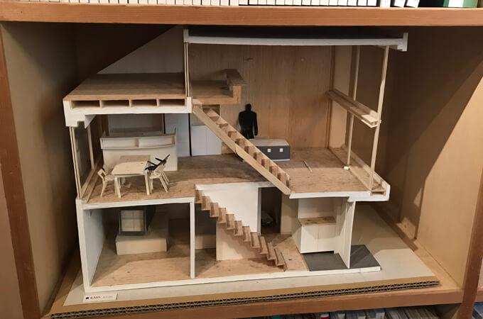 初めて手掛けた家の模型