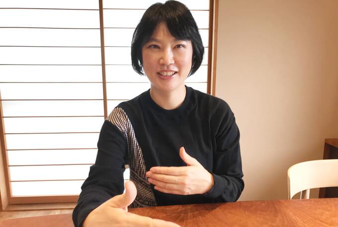 木名瀬さんインタビュー風景