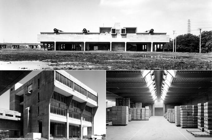 日本オリベッティ社の倉庫