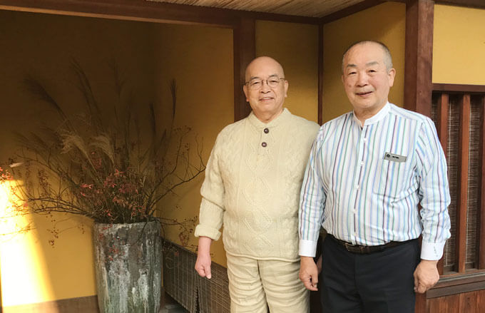 松原先生と野倉さんお外で