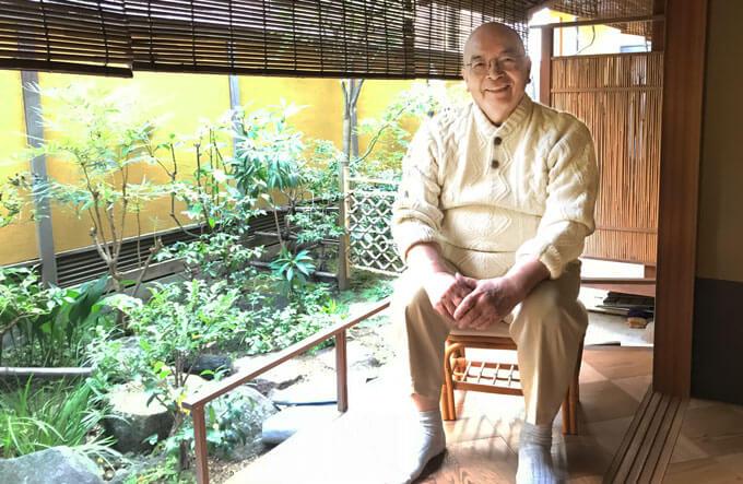 松原先生と茶庭