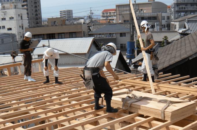 太陽住宅建設現場