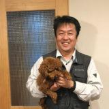 愛犬と白山さん