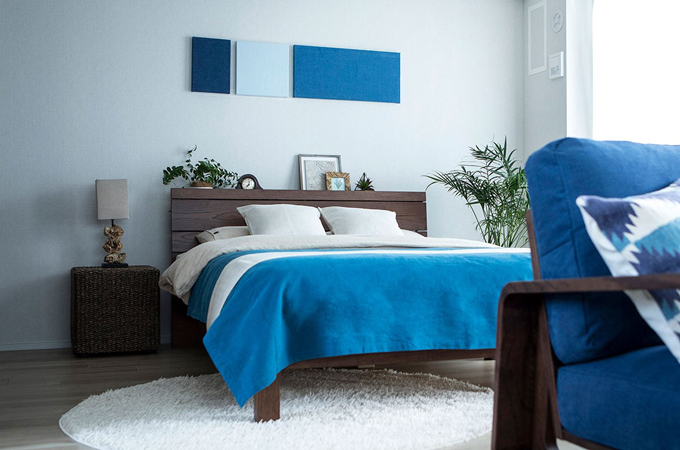 6畳にダブルベッドを置いた場合の参考サイト