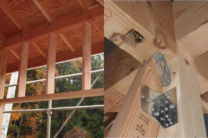 窓台(左)、構造金具(右)