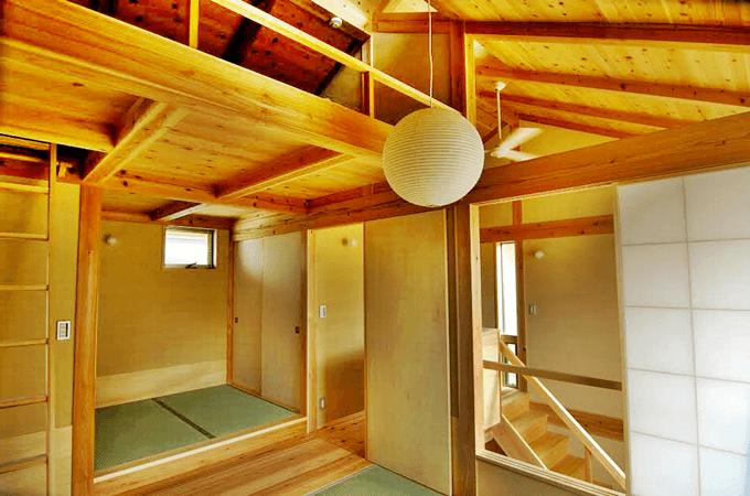 木組みの家の内装
