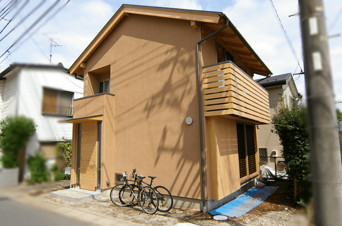 木組みの家の外装