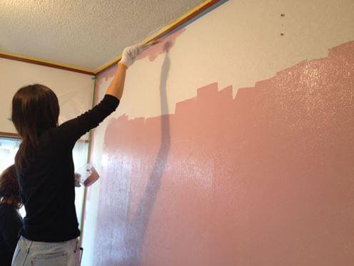 壁の塗装DIYの事例写真