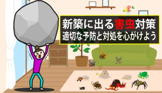 新築に出る害虫説明書|発生原因と害虫別の対策を解説