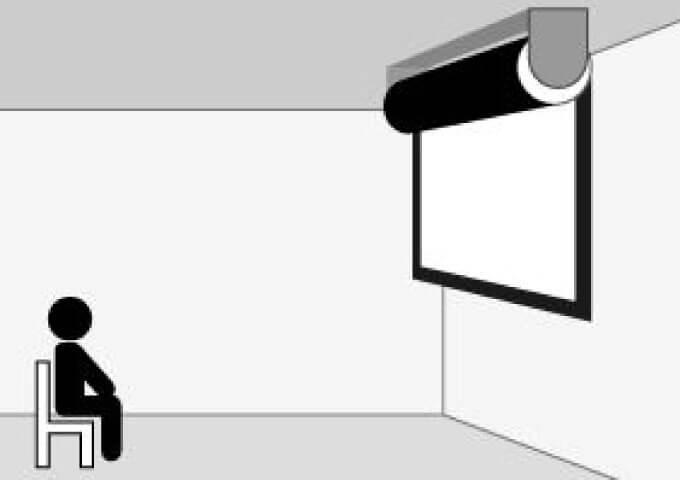 スクリーンの天井付け