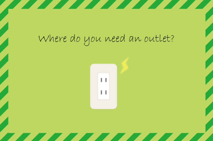 Where do you need an outlet?