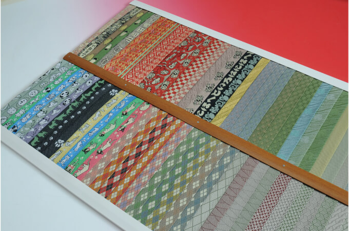 カラフルな畳の縁