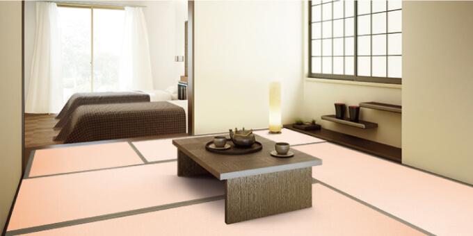 桜色の和紙畳