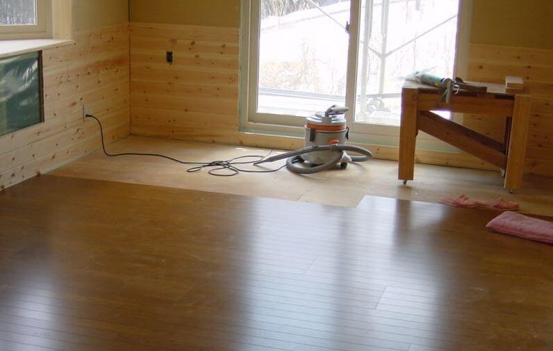 床板の取り付けDIYの事例写真