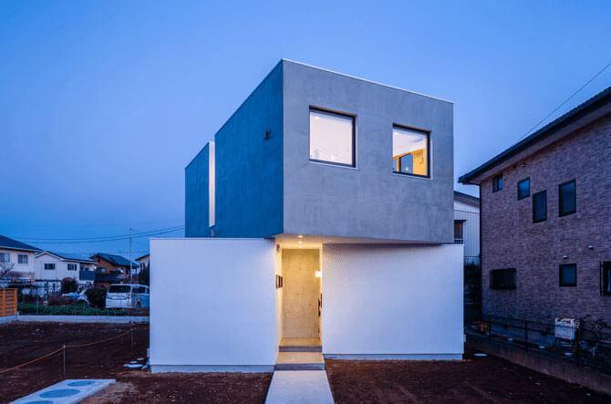 吉川さんが手掛けた住宅の外観デザイン