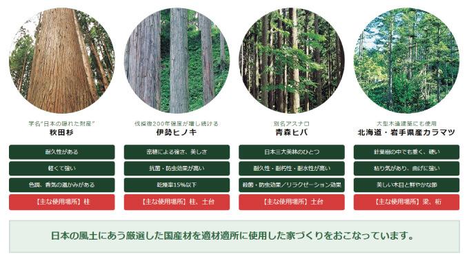 古河林業-国産材一覧