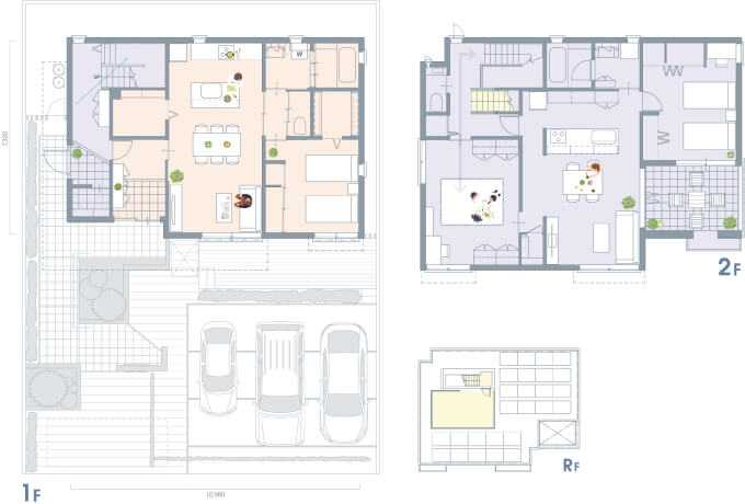 ヘーベルハウス-二世帯間取り図1