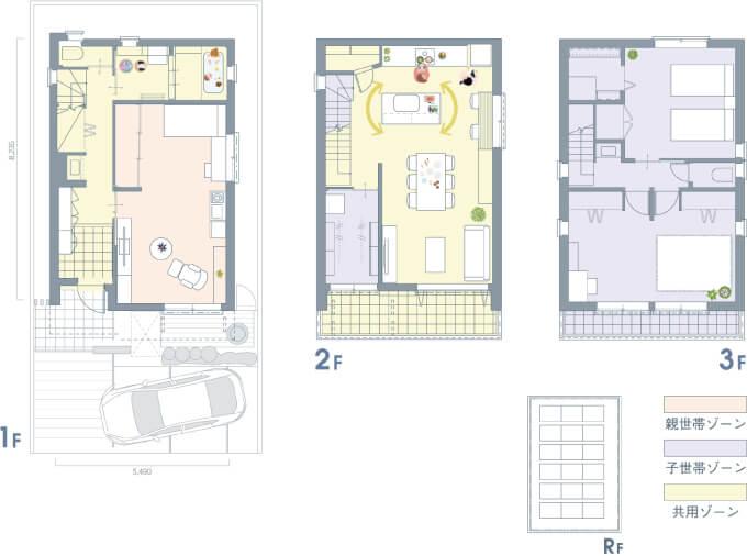ヘーベルハウス-二世帯間取り図2