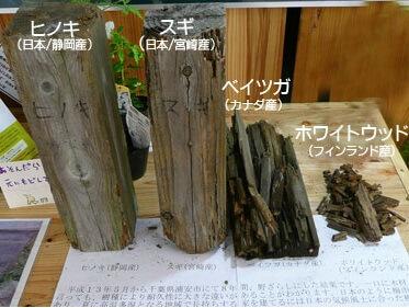 野ざらしにして8年後の木材