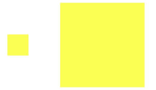 面積効果による違い 明るい色